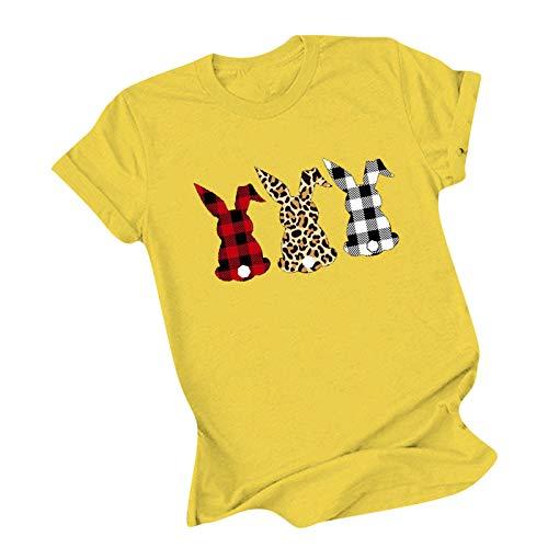 SicongHT Sommer Oberteil Damen T Shirt Top Bluse-Frauen Mädchen Blätter Druck Kurzarm T-Shirt Casual Rundhals Tank Tops Tunika Blusen Tees Sweatshirt Pullover Hemd