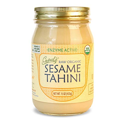 Gopal's Raw Organic Sesame Tahini from Non-GMO, Vegan, Gluten-Free and Certified Organic Sesame Seeds 15 Ounces (433 Grams) (15 Ounce)