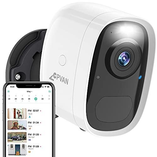 CPVAN Wireless Security Camera Outdoor with Spotlight Alarm, WiFi 1080P...