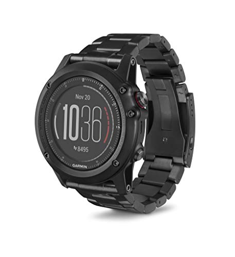 Garmin Fenix 3 HR Special Edition Titanium with DLC Titanium Band 010-01338-7B (Renewed)
