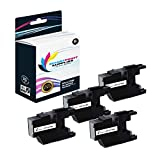 Smart Print Supplies Compatible LC-75 LC75BK Black Ink Cartridge Replacement for Brother MFC-J6510DW J6710DW J6910DW J280W J425W Printers (600 Pages) - 4 Pack