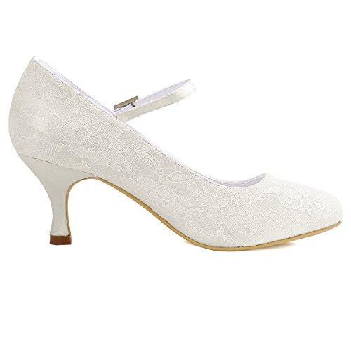 Elegantpark // Brautschuhe Stiletto // Runde Geschlossene (Ivory oder Weiß) - 3