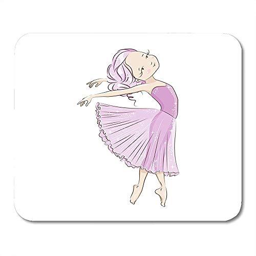 Gaming Mat Mooie Ballerina In Klassieke Tutu Op Wit Ze Is Dansen Bootless Licht Roze Jurk Sierlijke Kleine Antislip Kleurrijke Mousepad Office Mousepad Gedrukt Muis Mat G