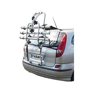 Fabbri 6201810 Portabicicletas trasero para coche, capacidad para 2