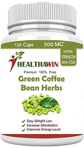 Healthawin Green coffee Bean Extract - 60% CGA (Highest Potency) 120 Capsules
