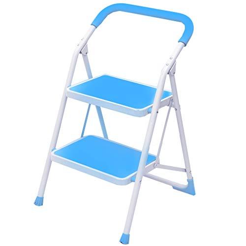 Leiter Haushalt Folding Herringbone Leiter verdicken Klettern Escalator DREI, Vier oder fünf Schritte Kleine Schritte Indoor Multifunktionale Treppen Stabilität und Sicherheit (Color : Green)