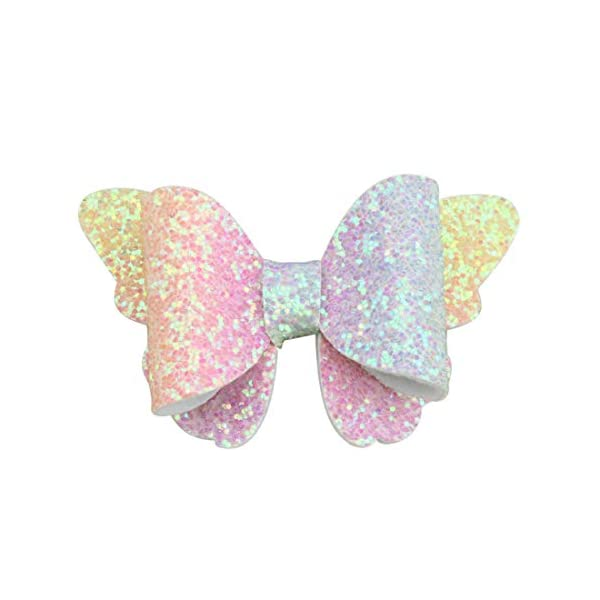 XIMA 10pcs Glitter Hair Bows Clips For Kids Girls Butterfly Hair Pin Accessoires Sparkly Bows Clips 7
