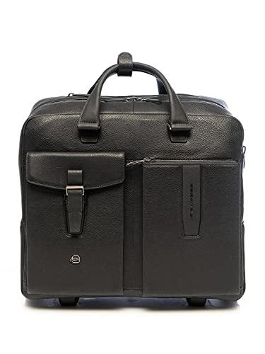 PIQUADRO Valigetta Business 2 ruote pelle 40 cm scomparto Laptop