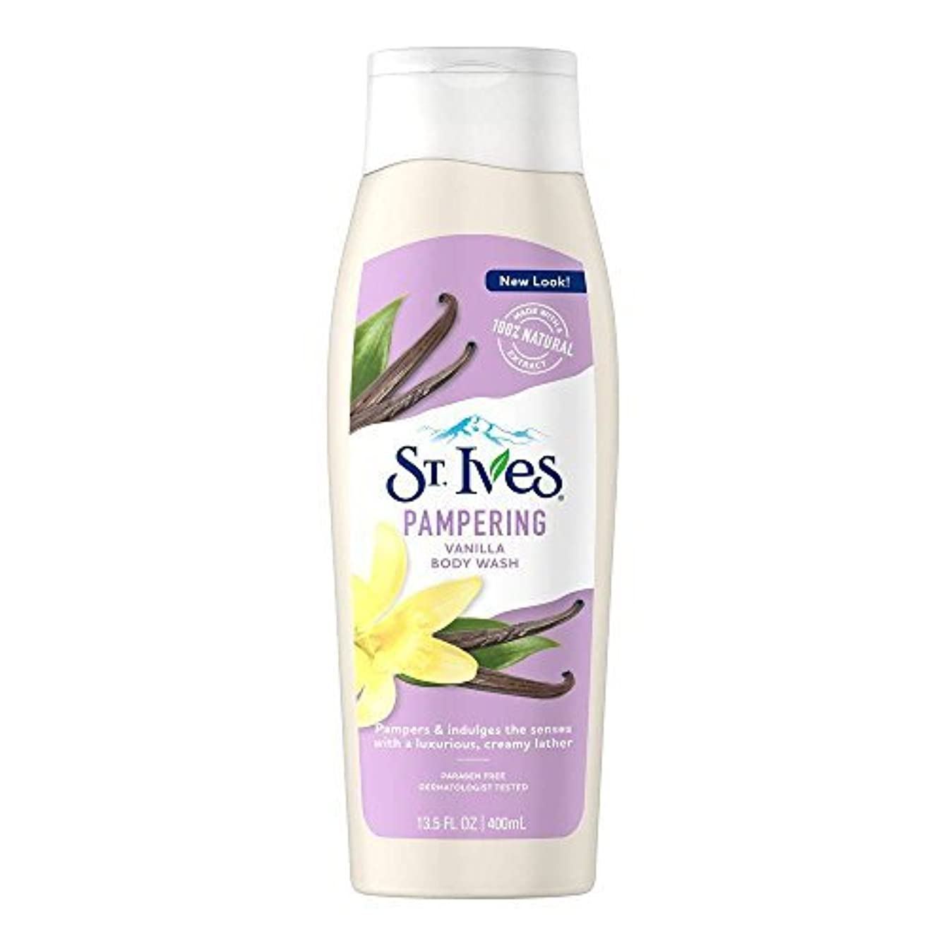 剥ぎ取るプロジェクター有益St. Ives U-BB-1240 Creamy Vanilla Moisturizing Body Wash - 13.5 oz - Body Wash