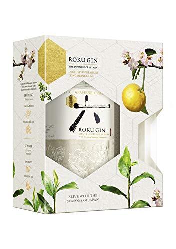 Roku Japanese Craft Gin Geschenkset mit Glas 0,7 Liter 43% Vol.