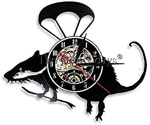 zgfeng Reloj de Vinilo Mouse Wall Art Mickey Mouse Multicolor Retro LP Reloj de Pared de Vinilo Mouse Lovers Gift