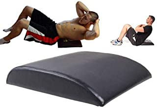 HCE AB Mat Crunch Support Pad with Hip Extension, Abdominal Crunches Mat, Sit-Ups, Core Training Workout Padded Mat - Blac...