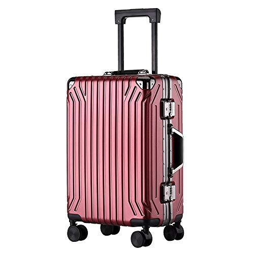 Ys-s Personalización de la tienda Nueva caja de la carretilla de la PC de aluminio marco de la maleta de equipaje Europea y resistente al desgaste 20 pulgadas maleta de moda estadounidense de 24 pulga
