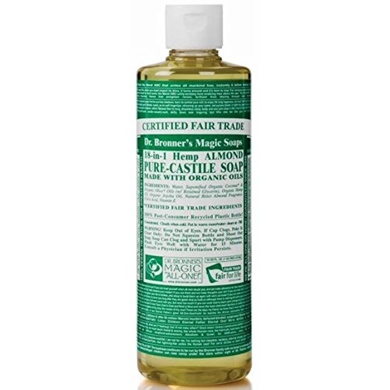 旅行ごめんなさい変更Dr Bronner Organic Almond Castile Liquid Soap 237ml (Pack of 6) - のブロナー有機アーモンドカスティーリャ液体石鹸237ミリリットル x6 [並行輸入品]