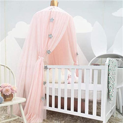 Atyhao 240cm Height Bed Canopy Round Dome Mesh Net Bedding Netting for Bedroom Use Baby Crib Bedding Crib Netting