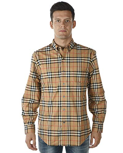 Burberry - Camicia Uomo 8001236 Marrone Jameson ML M