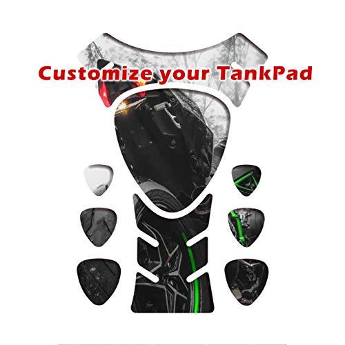 Almohadilla de depósito adhesiva, Motorrad Tankpad, Tankscutz, Protection de resevoir, Personalizado para todas las bicicletas (forma 4)