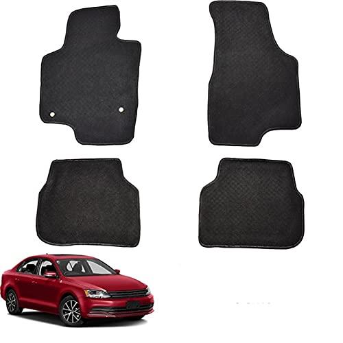 PYSDWE Estera del Piso del Coche Mats for VW Vento A6 2011-2018 Nylon Black Carpet Liner Front Share All Thuff 2012 2013 2014 2015 2017 (Color : Black)