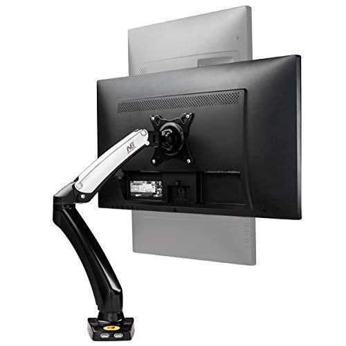 Soportes de Pared para TV Soporte para TV Aluminio 27 Pulgadas Soporte de presión neumática Soporte para TV LCD de Escritorio Soporte 360 Turn 2USB1 Soporte de Pared para TV