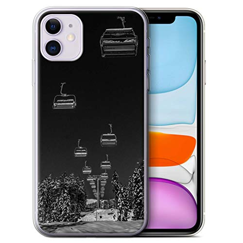 eSwish Gel TPU Hülle/Case für Apple iPhone 11 / Ski Aufzug Muster/Skifahren/Snowboard Kollektion