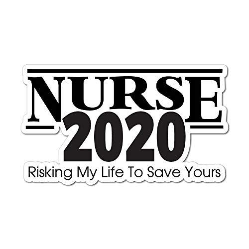 Nurse 2020 Sticker Work Hero Social Distancing Decal Car