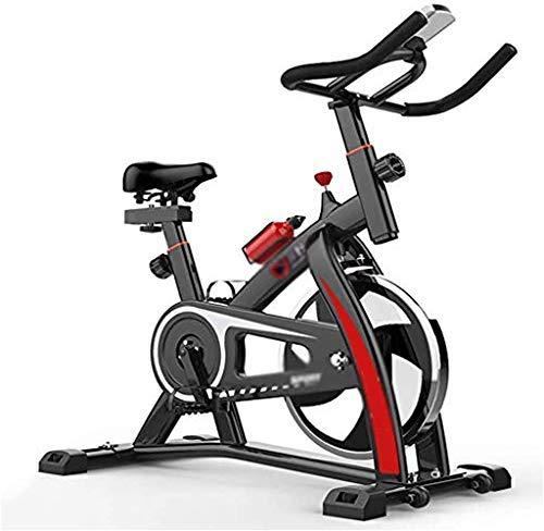 KANJJ-YU Indoor Cycling la bicicleta estática, bicicleta de Exercise con un manillar y asiento ajustable, Profesional de interior del entrenamiento de resistencia Ciclo de fitness de ajuste Cardio máq