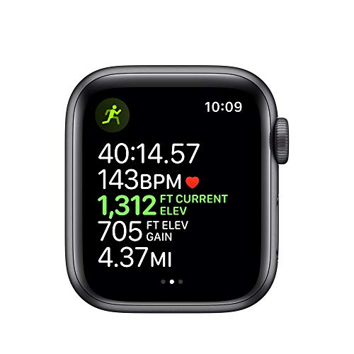 Apple Watch Series 5 (GPS+Cellular, 40mm) - Space Gray Aluminum Case with Black Sport Band 5