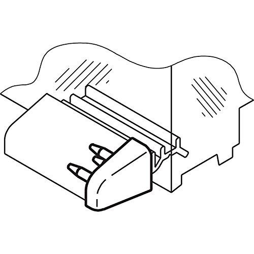 Endkappe zu Wetterschenkel, Kunststoff grau RAL 7035, 1 Paar
