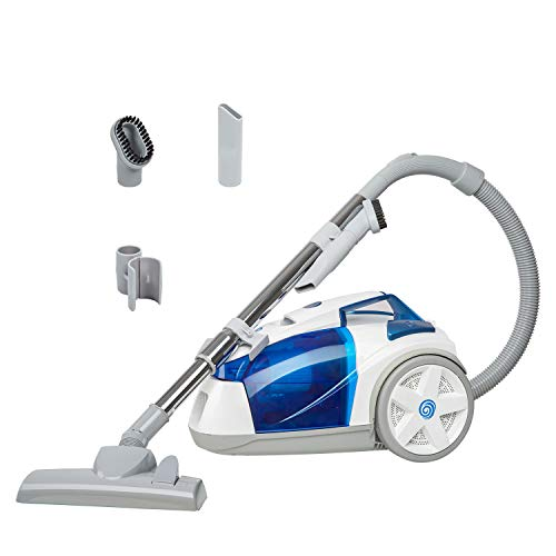 Review Vacmaster CC0101 Compact Bagless Canister Vacuum, White & Blue