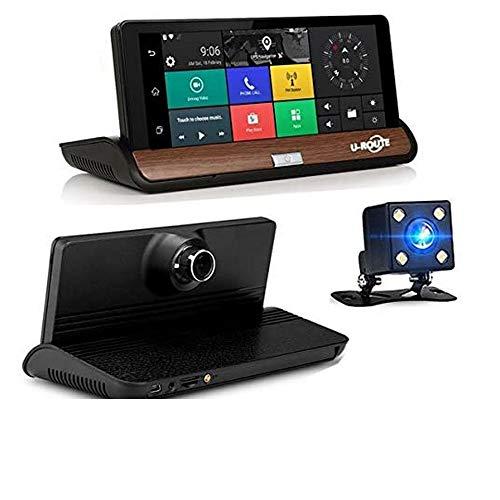 Yuyitec - Espejo retrovisor de 7 pulgadas 3G Wifi para coche con Android 5.0 GPS y navegación, grabadora de vídeo Bluetooth, cámara de salpicadero Full HD 1080P