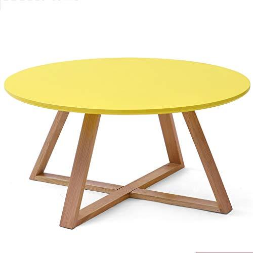 Tables basses en Bois Massif Ronde créative Petit Appartement Table Salon Petite Moderne Commode Mobile Petite, Peut être assemblé