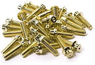 80 SRR Hardware Gold Three Piece Split Rim Assembly Bolts M8 x 32mm 10.9 HT Steel for HRE DPE IFORGED ROTIFORM WORK Steel Screws