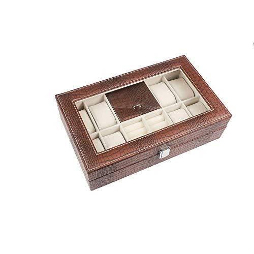 Rganizador welry caja de la caja welry y vitrina con espejo for los pendientes de ver el collar de Wels brazo DDLS (Color : 1)