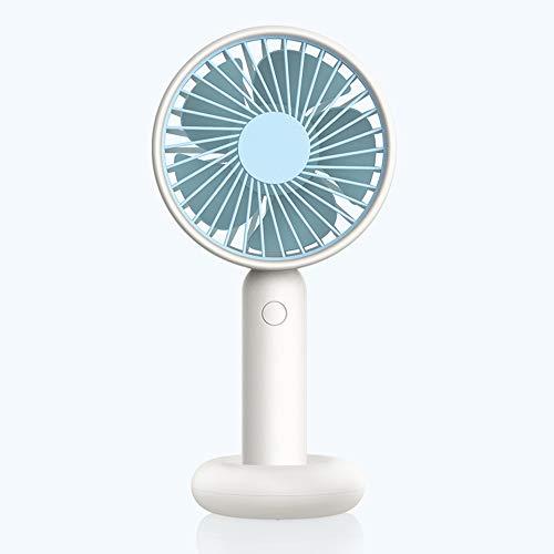 Schreibtischventilator Hält Einen Kleinen Ventilator Lautloser Lüfter Traveller Personal Office Fan, Geeignet Für Verschiedene Lebensszenarien,Blau