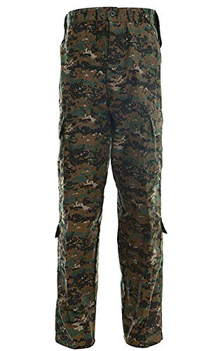 LANBAOSI Men Tactical Combat Pants Multicam Military Lightweight Cargo Pants Outdoor Airsoft Hunting ACU Camo Trousers