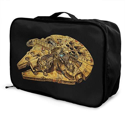 Star Wars - Borsone da viaggio, impermeabile, alla moda, leggero, grande capacità, per bagagli