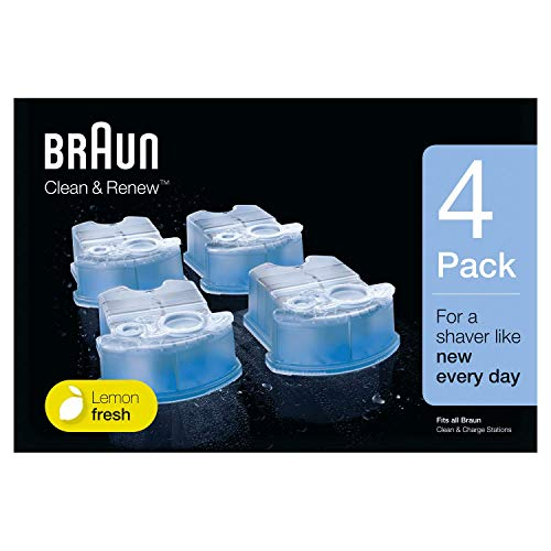 Price comparison product image Braun Clean and Renew 4 Pack,  Cartridge,  Refill,  Replacement Cleaner,  Cleaning Solution