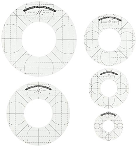 "Good Measure Every Circle 1/4"" Set of 5 ruler set"