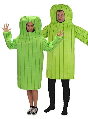 Foxxeo Kaktus Kostüm für Erwachsene Damen und Herren Faschingskostüm Karnevalskostüm Größe XXL