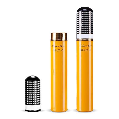 CIGARLOONG Cigar Tube Travel Single Cigar Glossy Case Airtight Storage Humidor