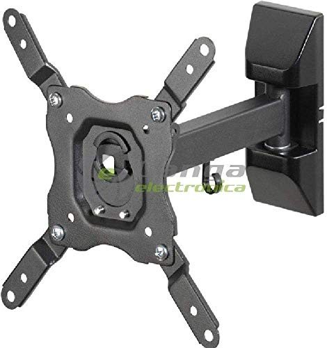 Vivanco BMO 6020 Soporte Inclinable y Giratorio de Pared para Monitor/TV/LED de 13' a 43', hasta 20kg de Peso, Distancia a la Pared 60 mm hasta 220mm, inclinación hasta -15º