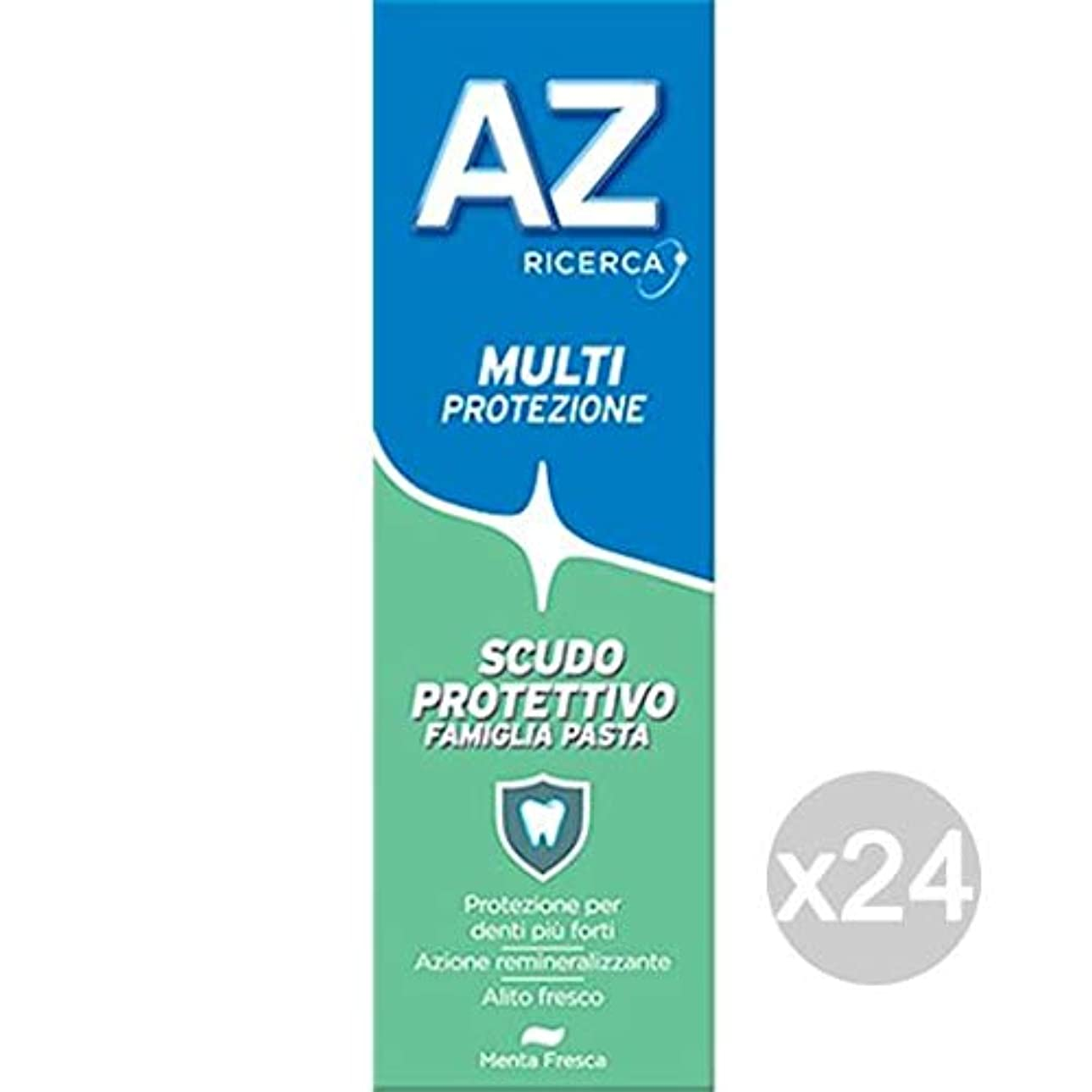 真向こう創傷剥ぎ取るAZ 24本セット ティースグリーンペーストシールド ファミリー クラシック 衛生的 歯のお手入れ マルチカラー ワンサイズ