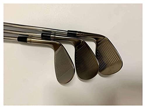 Palos de Golf Cuñas SM8 Cuñas de Golf SM8 Gris Acero 48/50/52/54/56/58/60/62 Grados R/S Eje Flexible con Tapa de Cabezal