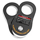 BIGTUR Snatch Block 10T Towing Winch Pulley Off-Road Recovery Accessories Heavy Duty, 22000lb Capacity (Black