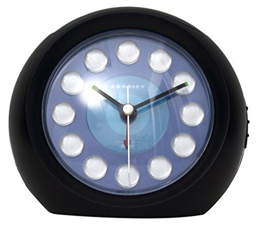 Timelink Crosley Vintage Modern Charger Alarm-Black Clock