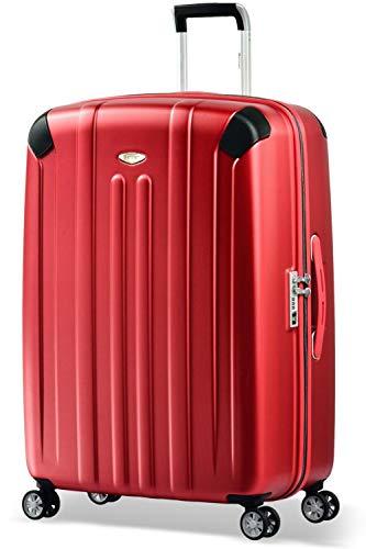Eminent Valigia Boulder 77cm 103L Valigia grande ultra leggera 4 Ruote doppie silenziose Protezione addizionale dei bordi & Lucchetto TSA Rosso