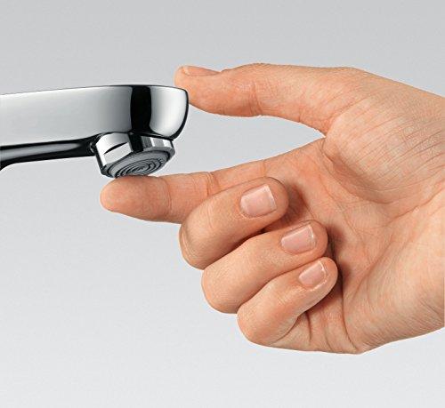Hansgrohe – Waschtischarmatur, Push-Open Ablaufgarnitur, QuickClean, EcoSmart, Chrom, Serie Focus 70 - 5