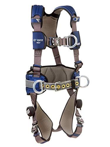 3M DBI-Sala Exofit NEX Construction Style Positioning/Climbing Harness 1113154, Medium, 1 Ea