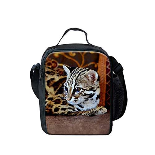fhdc Mochila Patrón De Leopardo 3D Animal Mochilas Escolares Mujeres Niños 3Pcs / Set Mochilas Bolsa De Comida Estuches De Lápices Niños Niños SatchelHmc1398G