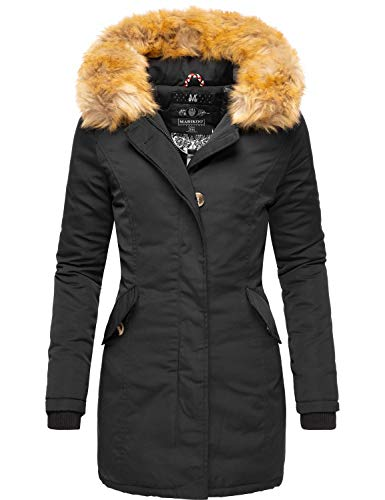 Marikoo Karmaa Cappotto Invernale da Donna XS-5XL Nero M
